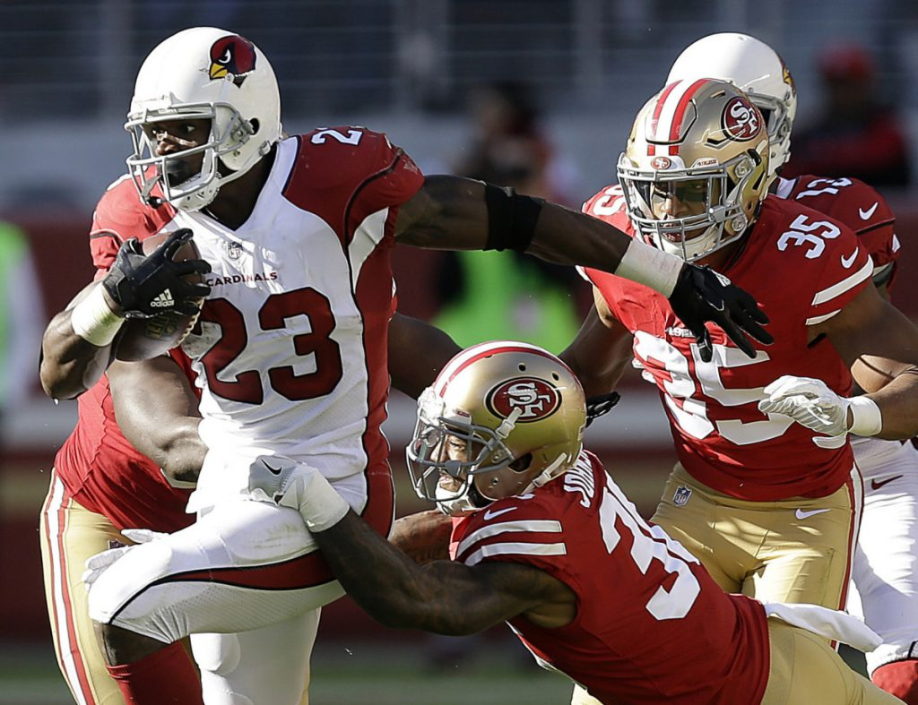 Adrian Peterson, who played last season with Arizona, still has the skill to avoid defenders at age 33. But Washington – which signed him Monday – plans a shotgun offense.