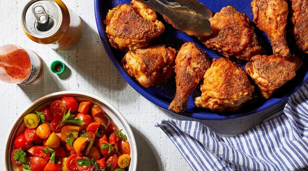 Smaller birds are better. You might think a bigger bird means more fried chicken, but a bigger bird means bigger parts – which means you may need more oil and a bigger skillet.