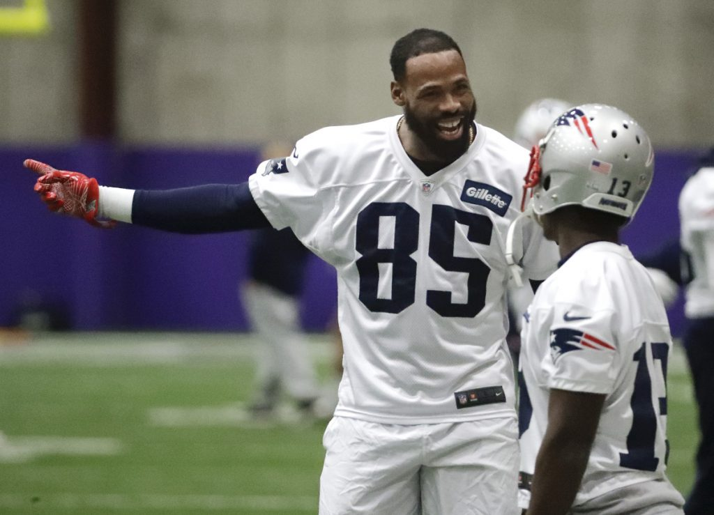 New England wide receiver Kenny Britt injured his hamstring in June and was not able to recover during training camp. Britt has played in 116 NFL games with 329 receptions for 5,137 yards and 32 touchdowns.