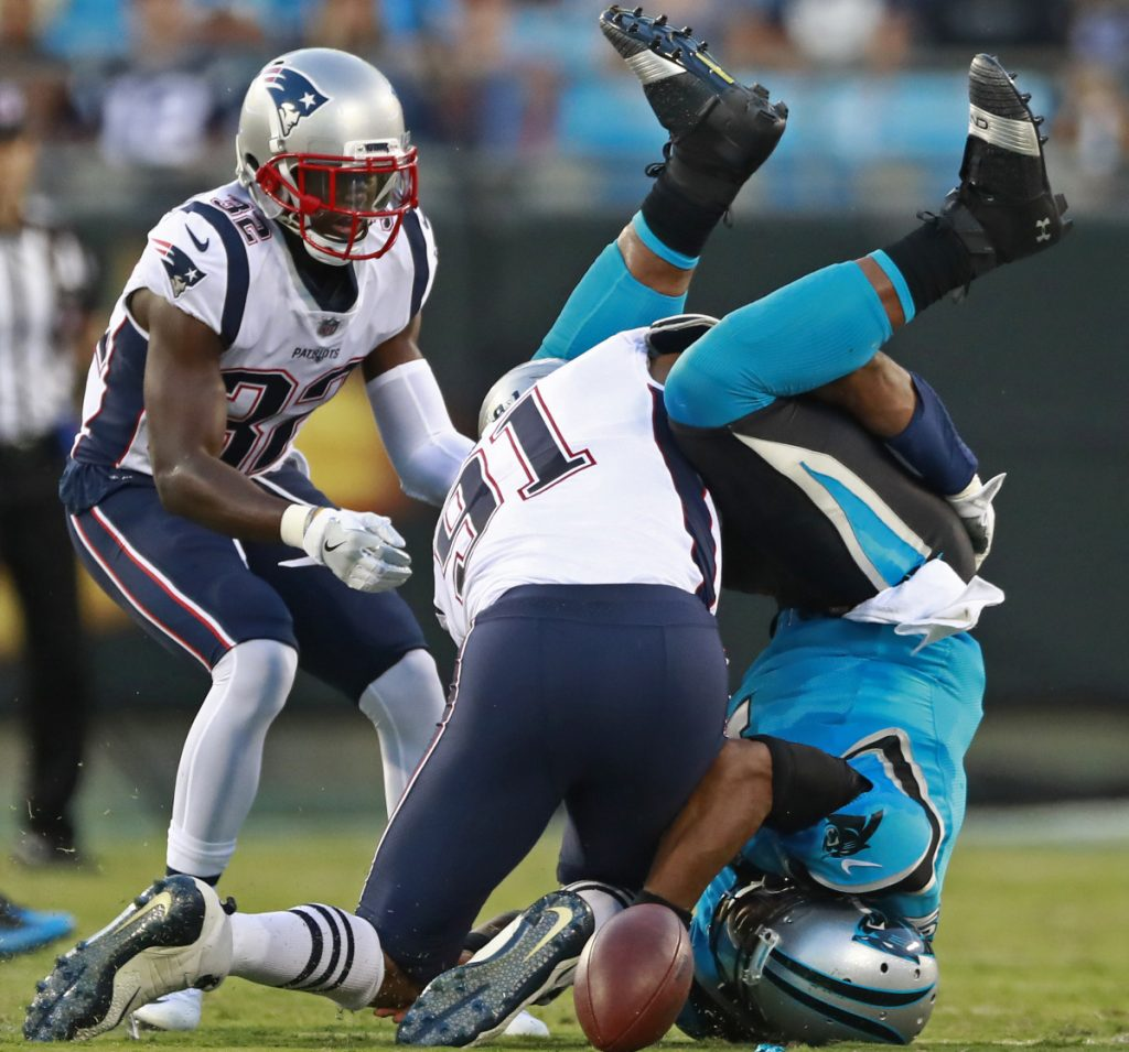 A quiet night for Pats in 25-14 loss to Panthers ...