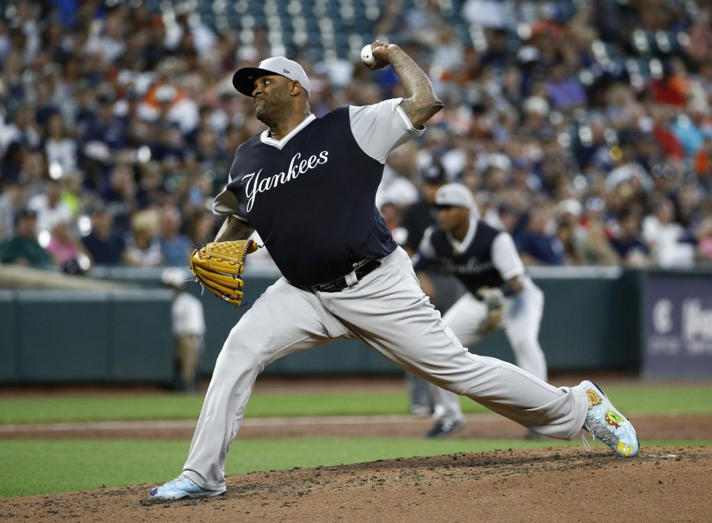 CC Sabathia allowed two runs in six innings for the Yankees on Friday in his first start back from the disabled list. New York beat Baltimore 7-5 in 10 innings.