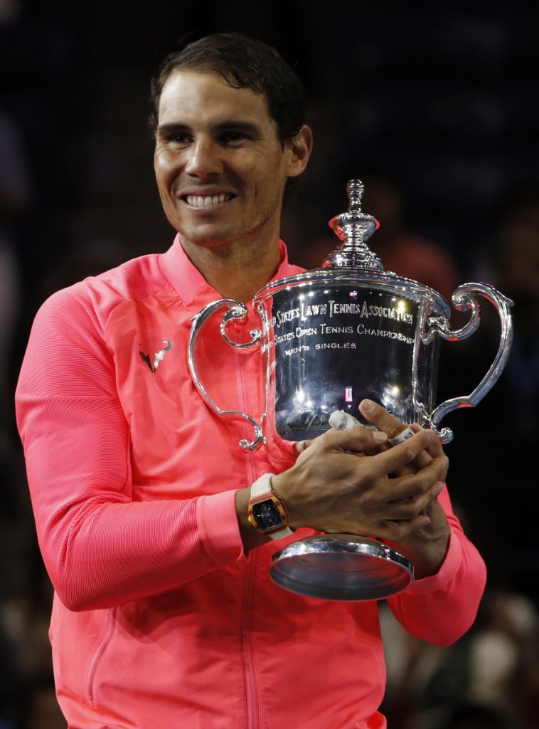 Defending champion Rafael Nadal, Roger Federer, Andy Murray and Novak Djokovic will play in a Grand Slam together for the first time since Wimbledon in 2017.