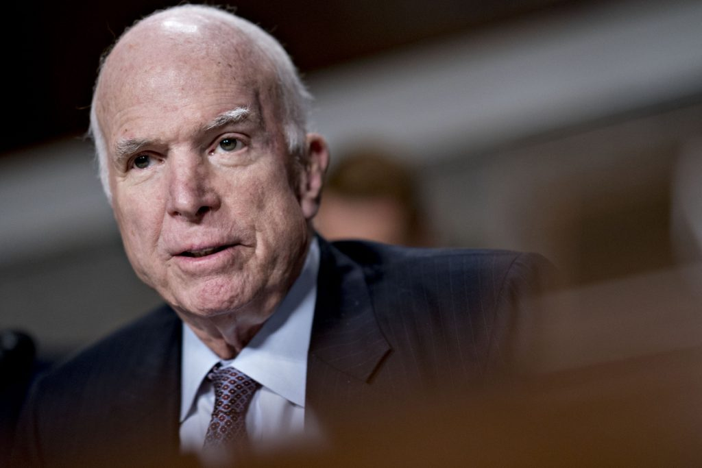 Senator John McCain, R-Ariz., will lie in state in both Arizona and Washington, D.C.