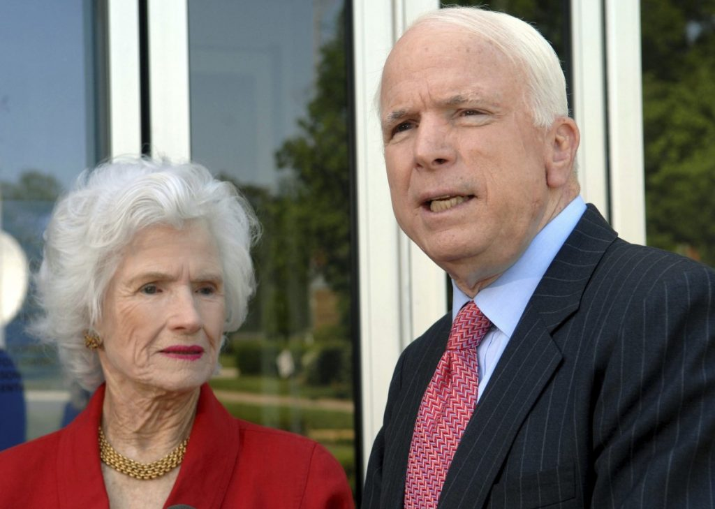 Though in her 90s, the vivacious Roberta McCain was a familiar sight during her son's presidential bid of 2008.