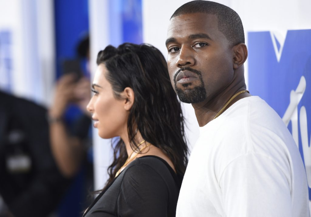 "Rapper Kanye West with his wife, Kim Kardashian West, at the MTV Video Music Awards. He issued a mea culpa on a Chicago radio station for calling slavery a ""choice"" earlier this year."