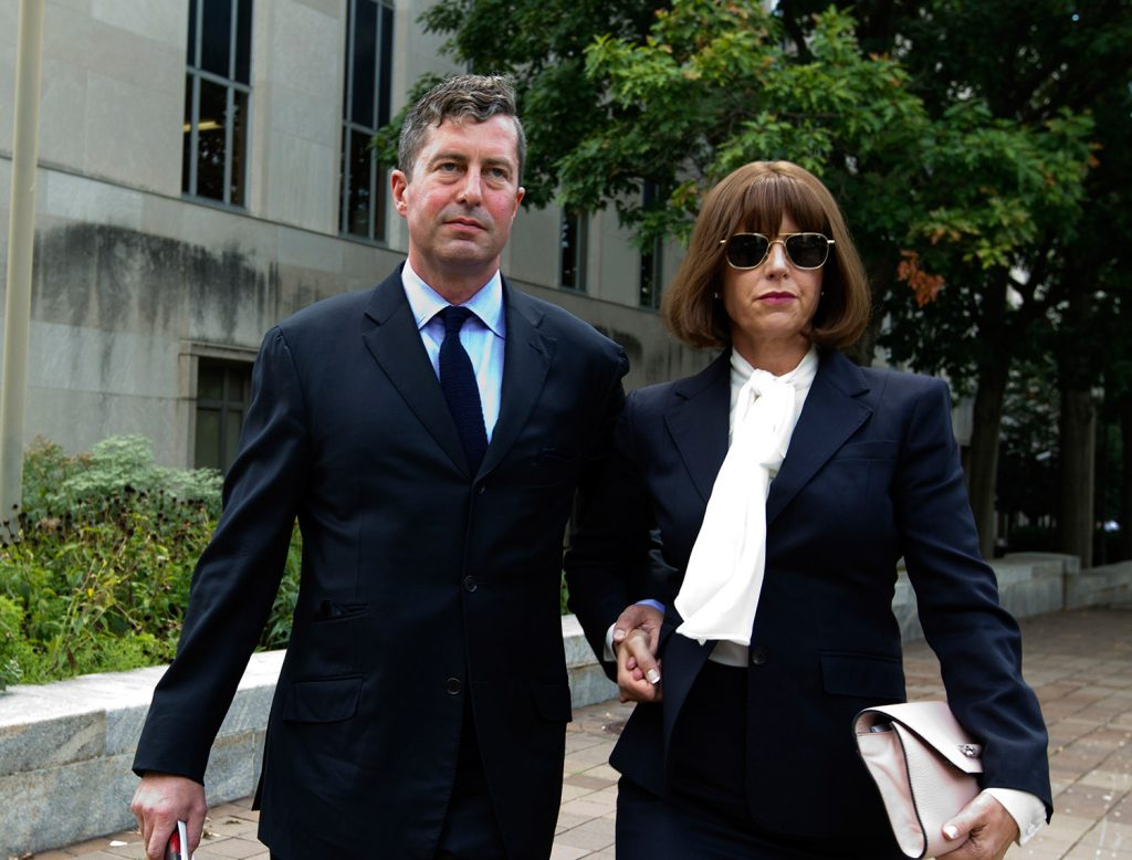 W. Samuel Patten leaves the federal court in Washington on Friday, Aug. 31.