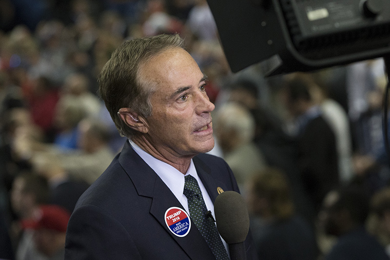 Rep. Chris Collins, R-N.Y.,  during a Trump campaign stop in Buffalo, N.Y. in 2016.