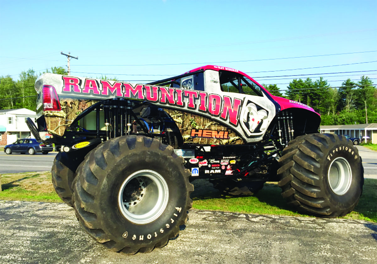 The Rammunition Monster Truck will be on display on Aug. 17 and Aug. 18 at Southern Maine Motors in Saco. COURTESY PHOTO