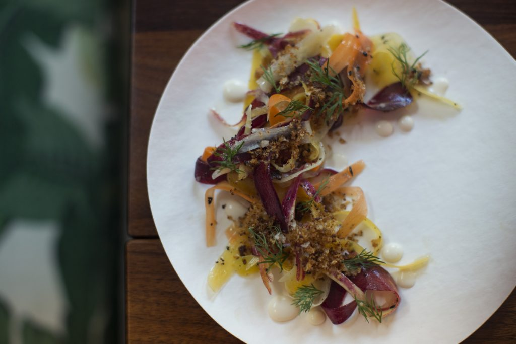 """Carrot """"lox"""" has become chef Rocky Hunter's well-Instagrammed signature plate."""