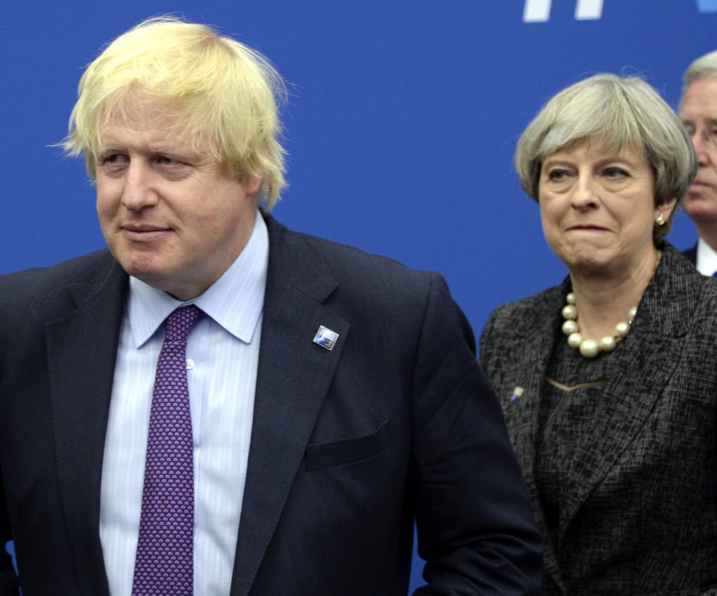British Foreign Secretary Boris Johnson slammed Prime Minister Theresa May's Brexit policy in a newspaper column on Monday.