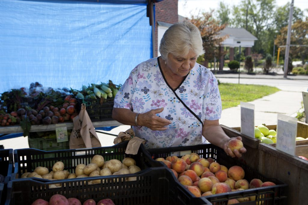 As a participant in the Maine Senior FarmShare Program, Ruth Knight of South Portland receives $50 worth of fresh produce from a farm of her choice – and the farm gets an influx of cash and the opportunity to reach new customers.