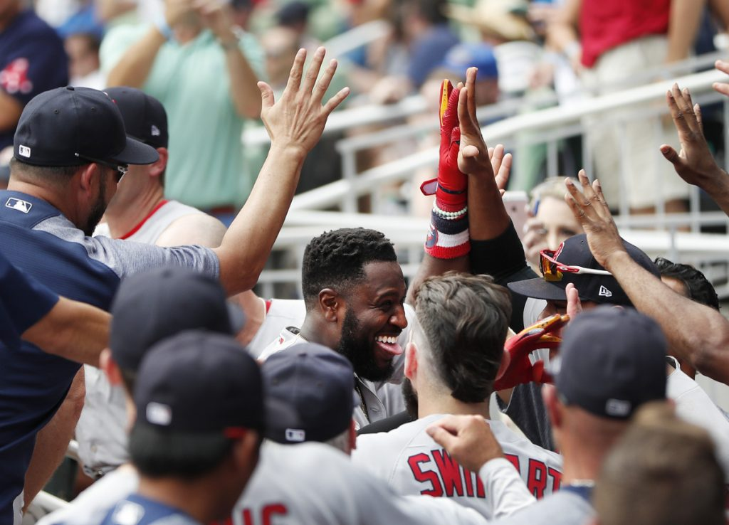 Brandon Phillips was playing his first game in the majors this season Wednesday, and came through with a homer in the ninth inning that capped a massive comeback by the Red Sox in Atlanta.