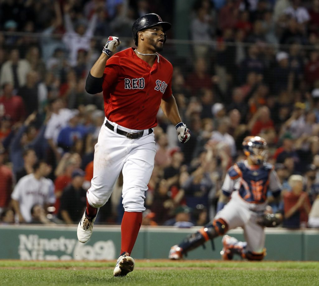 Xander Bogaerts hit home runs in consecutive games this weekend against the Houston Astros, matching his career high of 21 in a season – just one of his career highs.