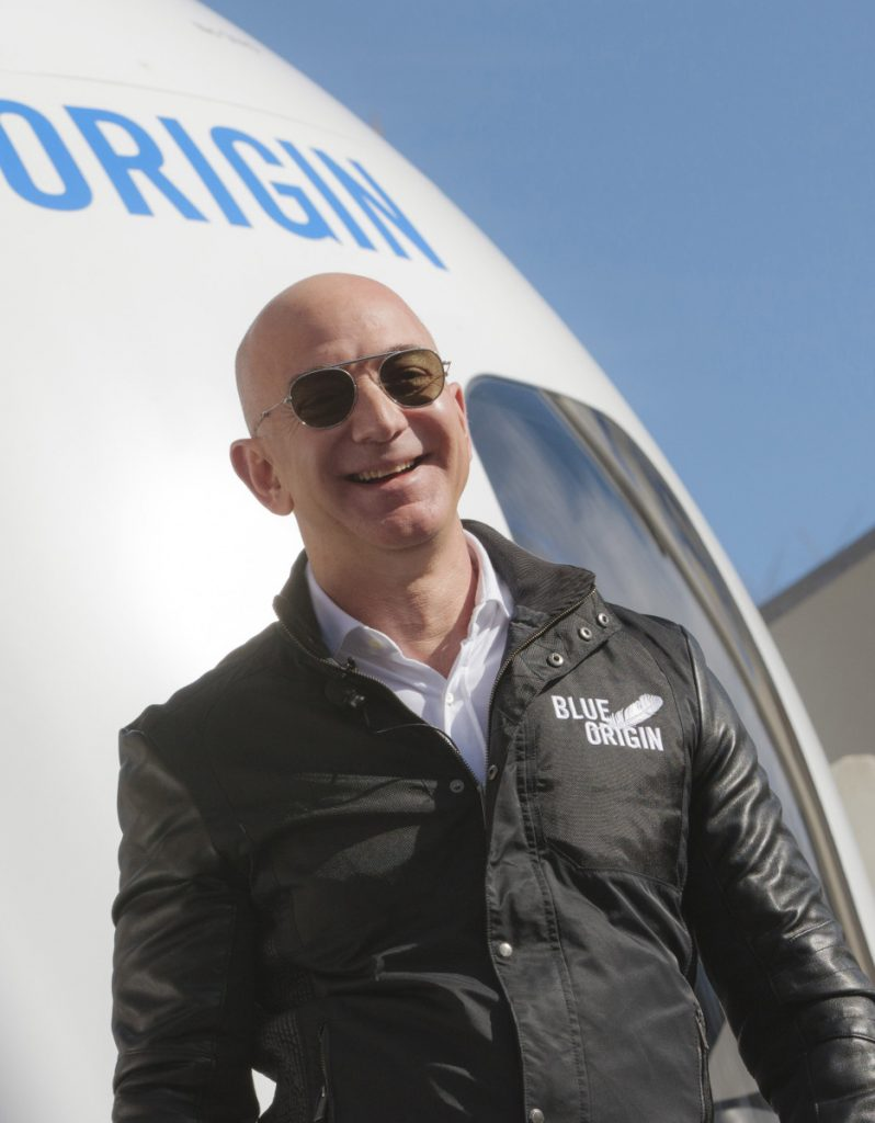 Jeff Bezos, chief executive officer of Amazon.com, at an event in Colorado Springs in 2017.