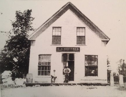 The George Hoffses Store once stood between the homes owned by Tom and Marge Greenleaf and Meredyth and Rick Hertel in Jefferson.