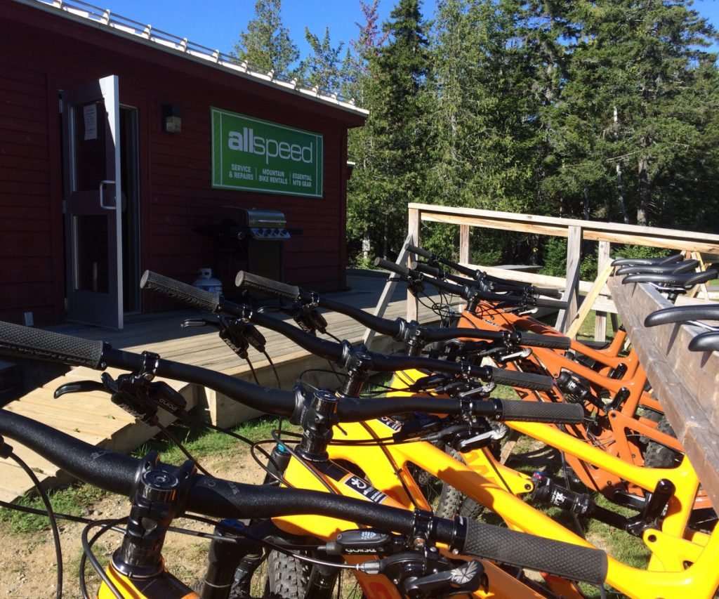 Allspeed Cyclery of Portland set up a satellite location at Sugarloaf ski area this summer, offering a fleet of high-end bikes for rental.