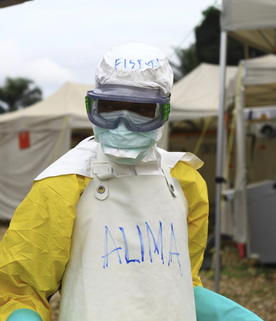 A health worker faces challenges in Beni, Congo.