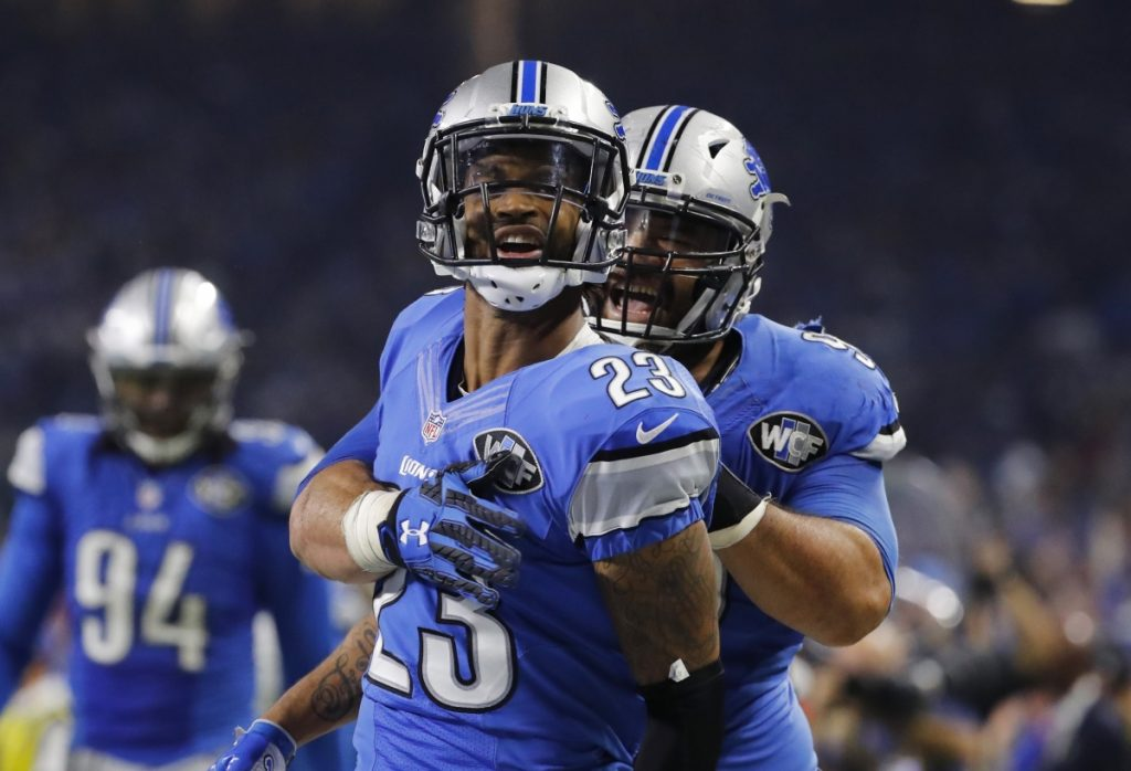 Detroit Lions cornerback Darius Slay remained in concussion protocol Wednesday and might not play Sunday against New England.