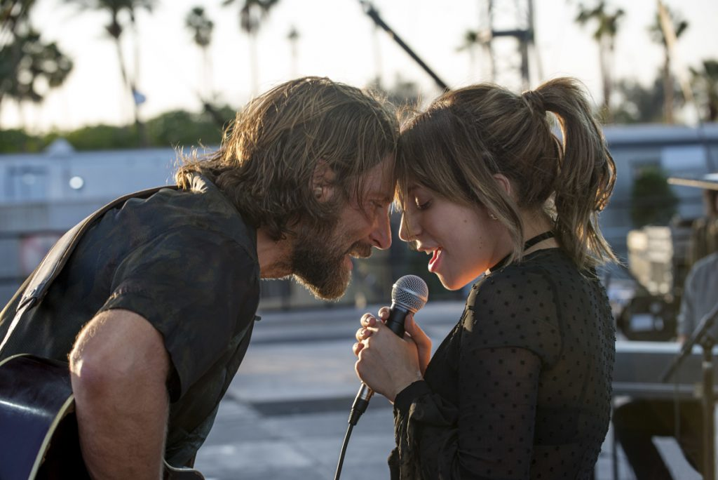 "Bradley Cooper and Lady Gaga in the latest reboot of ""A Star is Born."""