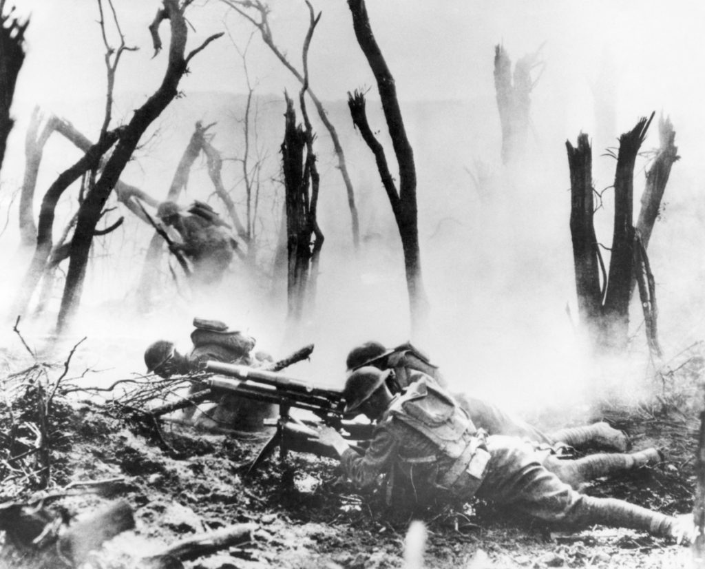 A U.S. Army 37mm gun crew mans its position on Sept. 26, 1918, during the World War I Meuse-Argonne Allied offensive in France, in which 26,000 U.S. soldiers died.