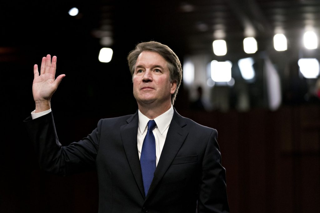 Supreme Court nominee Brett Kavanaugh at his Senate Judiciary Committee confirmation hearing in Washington on Sept. 4. His addition to the court eliminates a swing vote and gives the court a conservative majority.