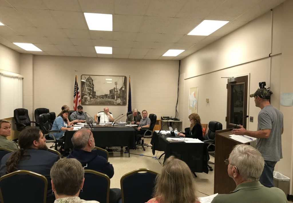 A Fairfield resident raises a concern Wednesday night about the proposal to allow retail marijuana businesses in town. The Town Council voted 4-1 in favor of the proposal later that night.