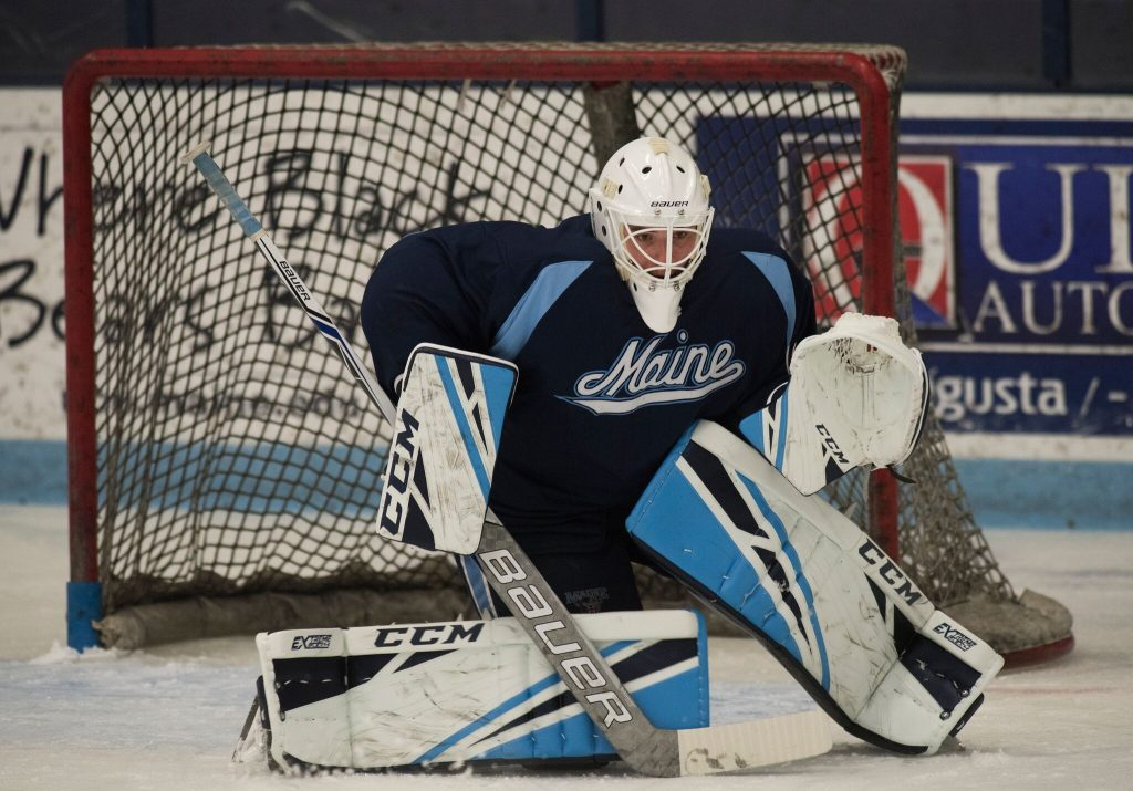 Goalie Jeremy Swayman was 15-12-3 with a 2.72 goals-against average and a .921 save percentage as a freshman.