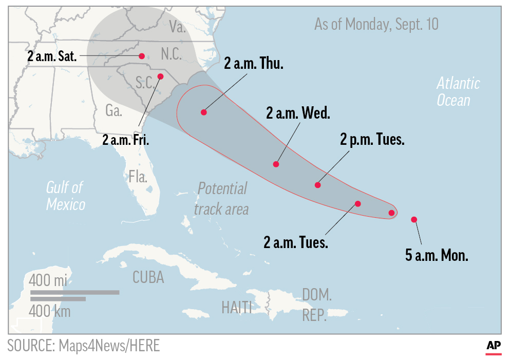 Millions Prepare For Potentially Catastrophic Florence As It Closes