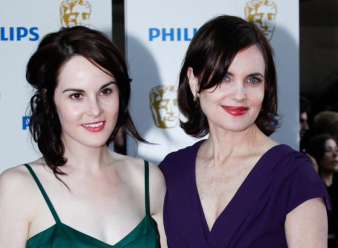 """Actresses Michelle Dockery, left, and Elizabeth McGovern, who starred in """"Downton Abbey,"""" will reappear in the upcoming movie version."""