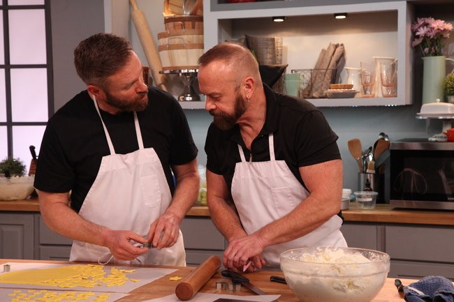 Kittery bakers James Dyer, left, and Owen Dyer, right, are scheduled to appear on a new baking competition show Saturday night.