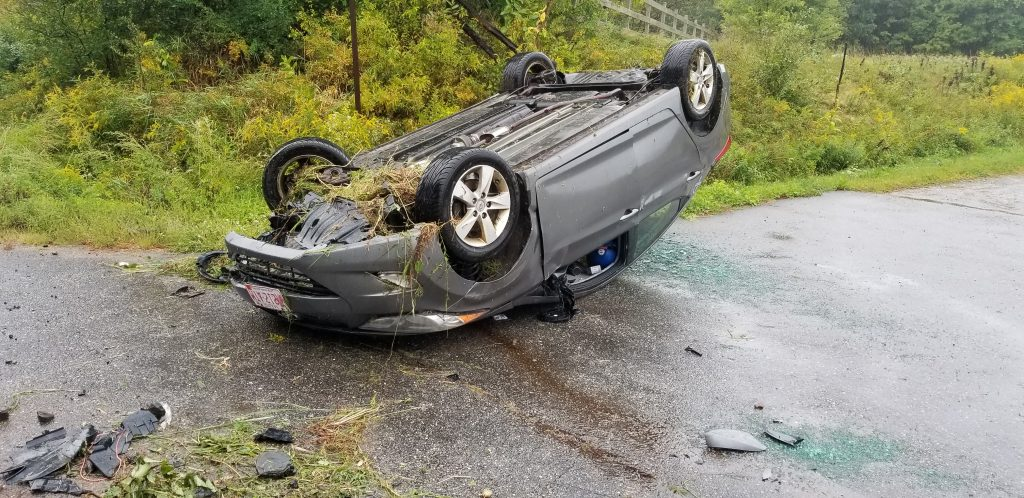 A Portland man was critically injured in this single-car crash in Lyman on Tuesday morning.