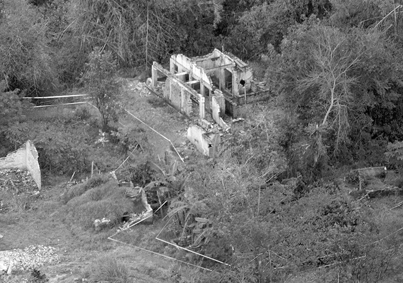 The remains of homes in My Lai, Vietnam, photographed in 1970.