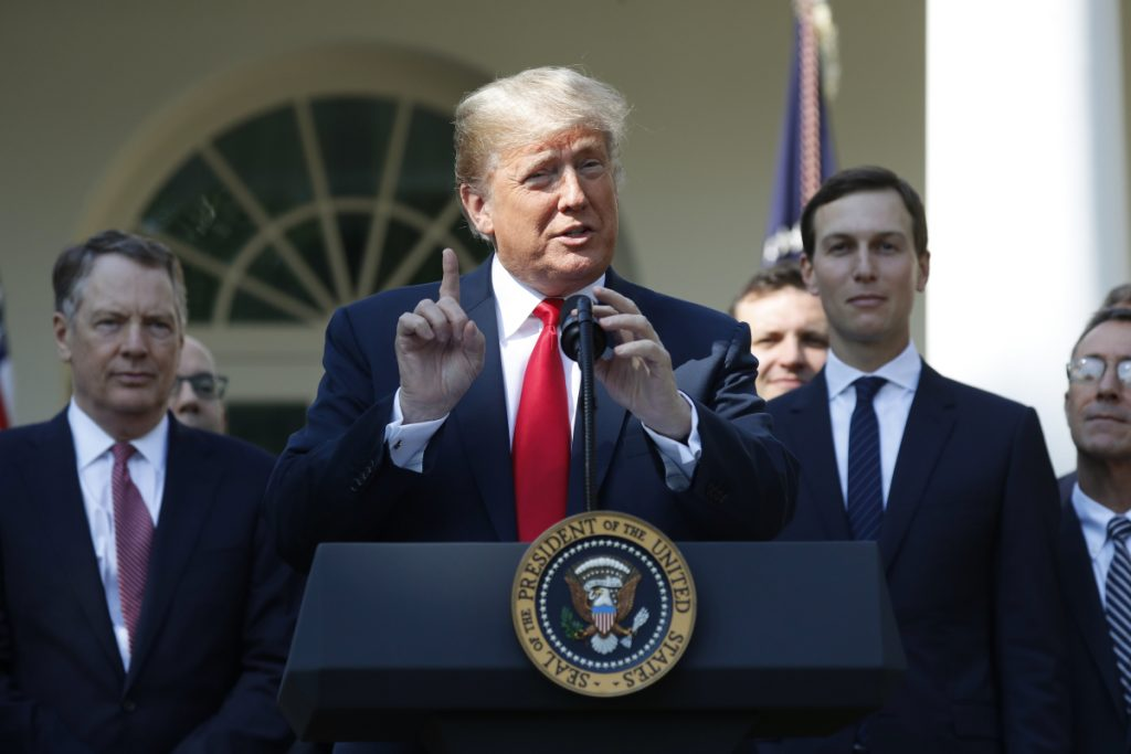 President Trump announces a revamped North American free trade deal Monday at the White House. The new United States-Mexico-Canada Agreement, reached just before a midnight deadline imposed by the U.S., replaces the 24-year-old North American Free Trade Agreement, which President Trump had called a job-killing disaster.