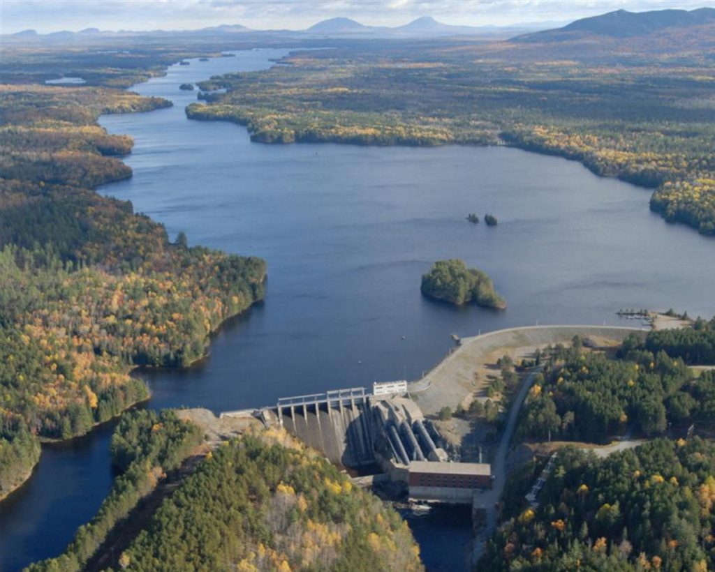 The proposed CMP power line would go over — or under — the Kennebec Gorge, where whitewater rafting draws thousands of visitors every year from Harris Station Dam, pictured here, to Carry Brook farther downriver.