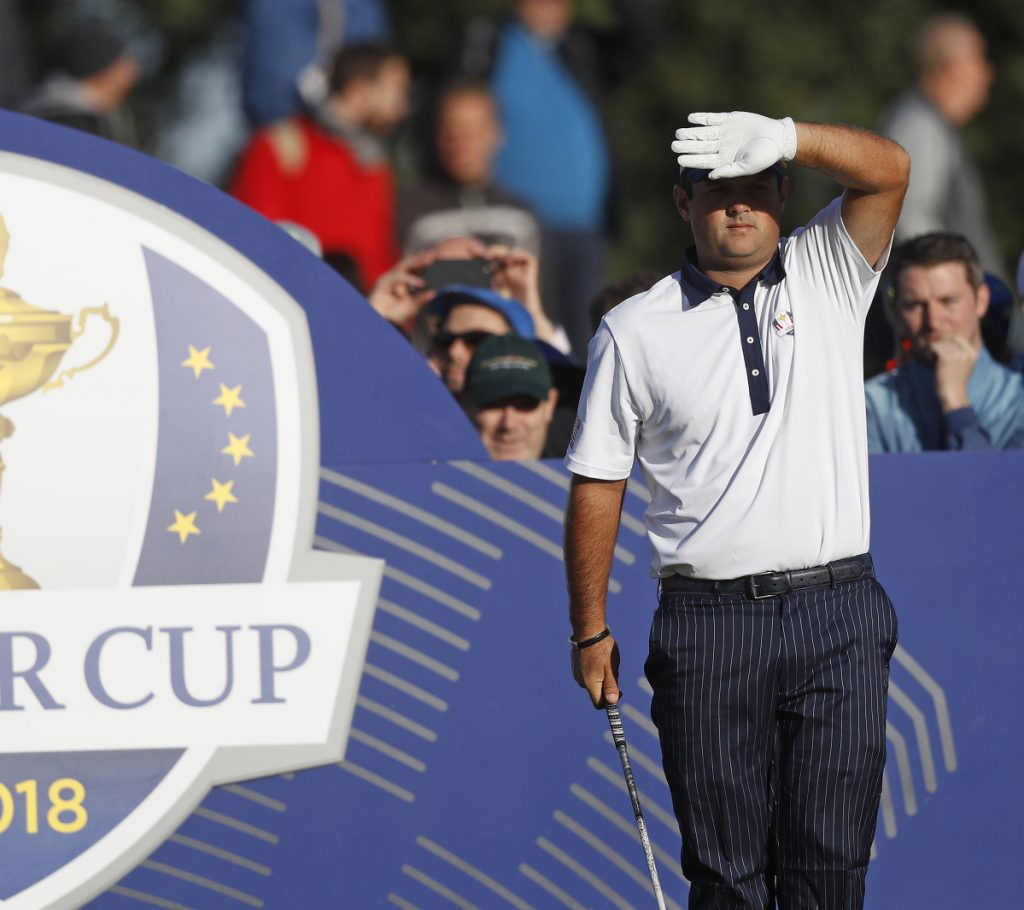 Patrick Reed has paired with Jordan Spieth for a 4-1-2 record in two previous Ryder Cups. He said Spieth is the reason they didn't team up this year.