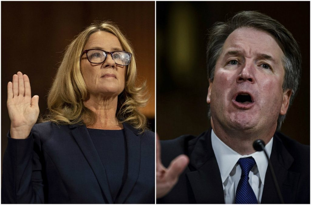 A reader wonders if Brett Kavanaugh, right, did assault Christine Blasey Ford, left, while drunk but can't recall it.