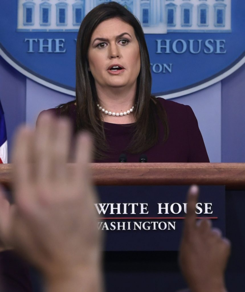 Sarah Huckabee Sanders says a New York Times story about Trump taxes got one thing right.