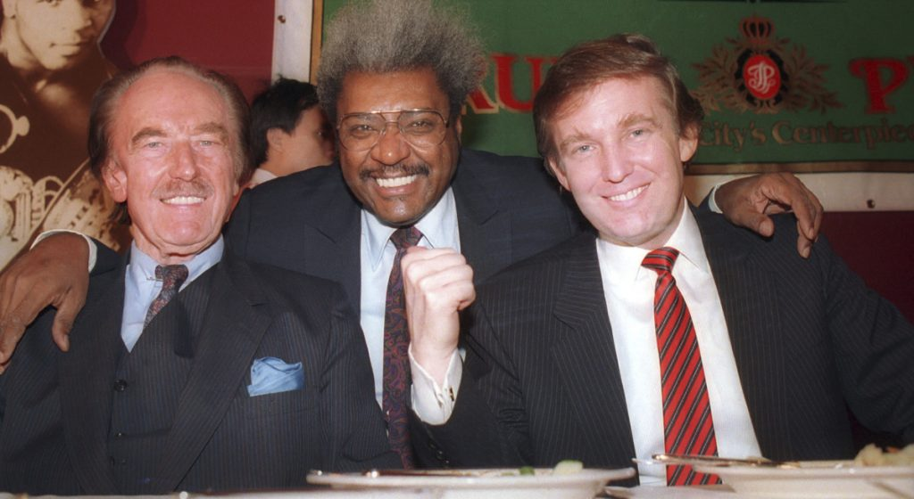 Donald Trump, right, with his father, Fred Trump, left, and boxing promoter Don King in 1987, benefited from transfers of family wealth that were, at best, unethical, and, at worst, unlawful.