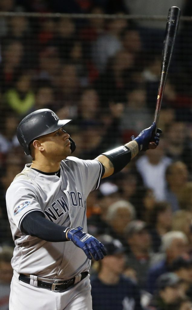 Gary Sanchez homered twice in the Yankees' 6-2 win over the Red Sox in Game 2 of their American League Division Series, a win that helped New York grab the momentum in the series.