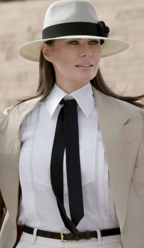 First lady Melania Trump visits Egypt Saturday. Associated Press/ Nariman El-Mofty