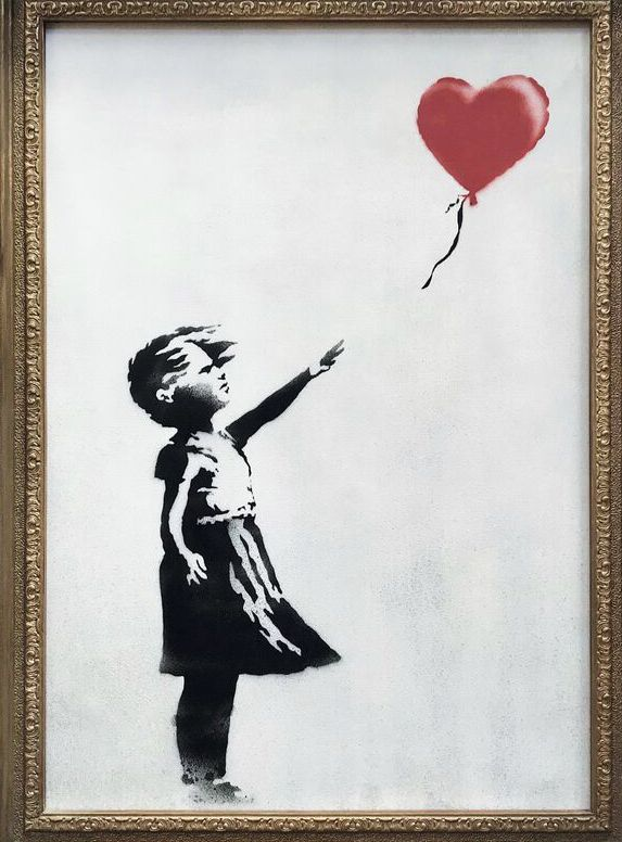 """Girl With Balloon"" by Banksy."
