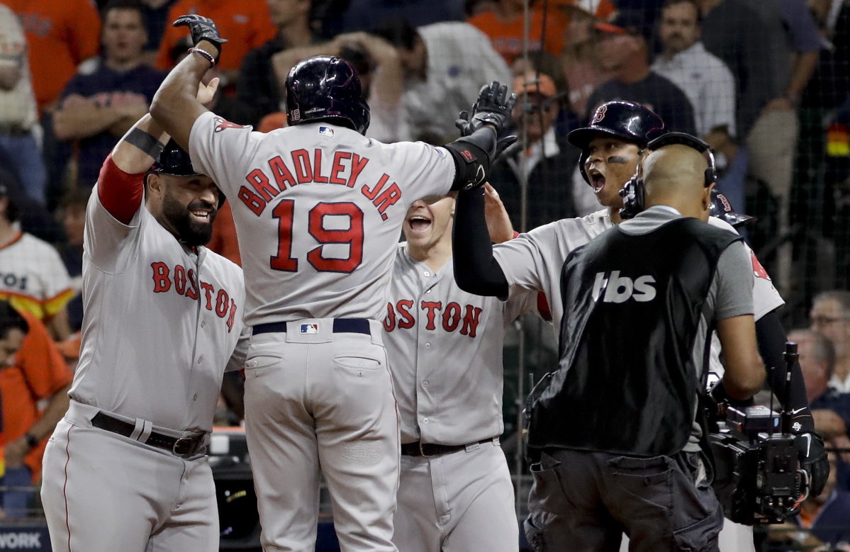 69845b76c Bradley strikes the big blow as Red Sox stomp Astros to take 2-1 lead in  ALCS - Portland Press Herald