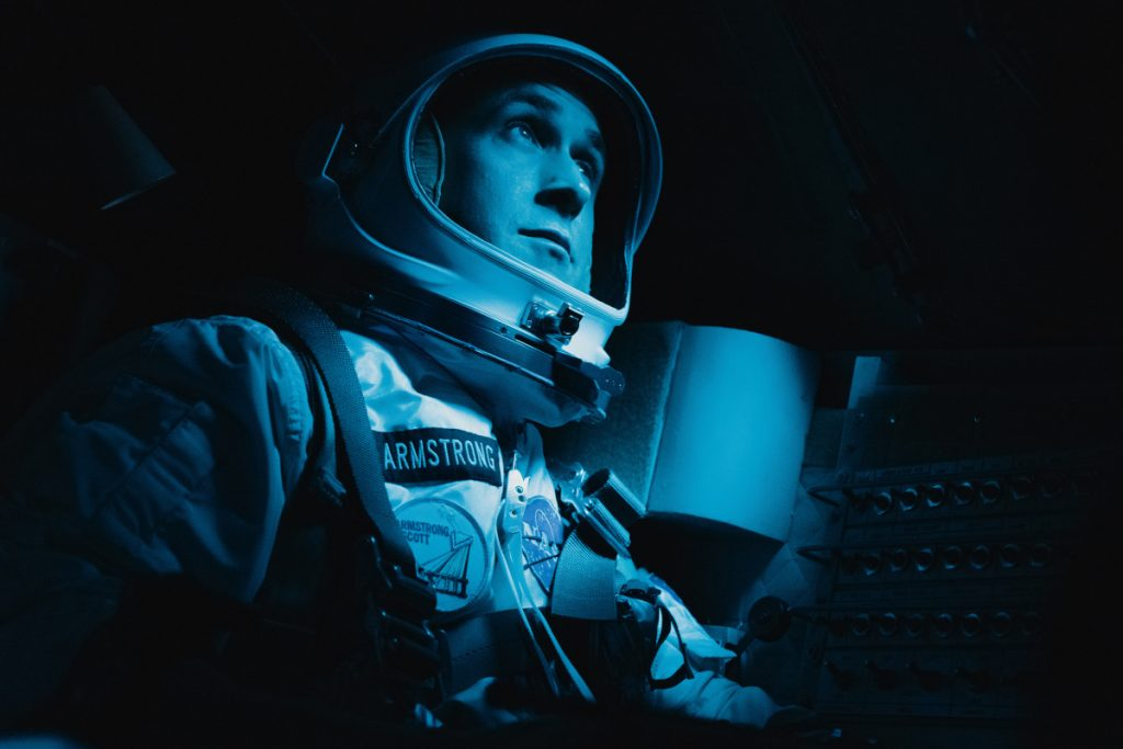 """Ryan Gosling as Neil Armstrong in """"First Man."""""""