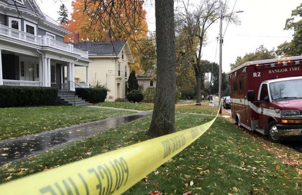 The Bangor home of Maine Sen. Susan Collins is taped off Oct. 15 as police investigate the delivery of a letter that the writer claimed contained the deadly toxin ricin. A reader urges Mainers to speak out against such intimidation.