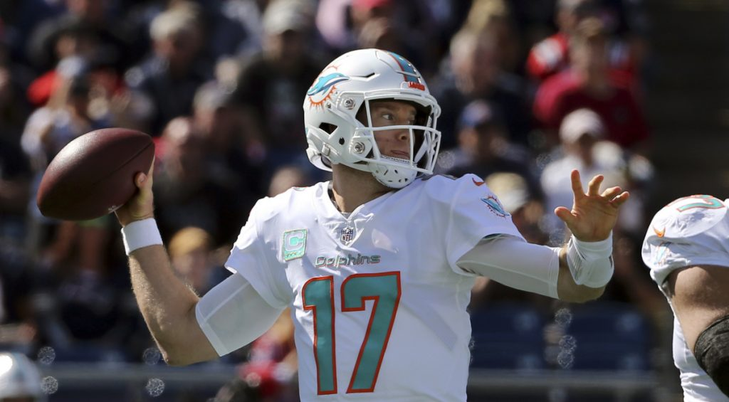 Quarterback Ryan Tannehill has not played for the Dolphins since Week 5 with a shoulder injury. He could return against the Jets on Sunday.