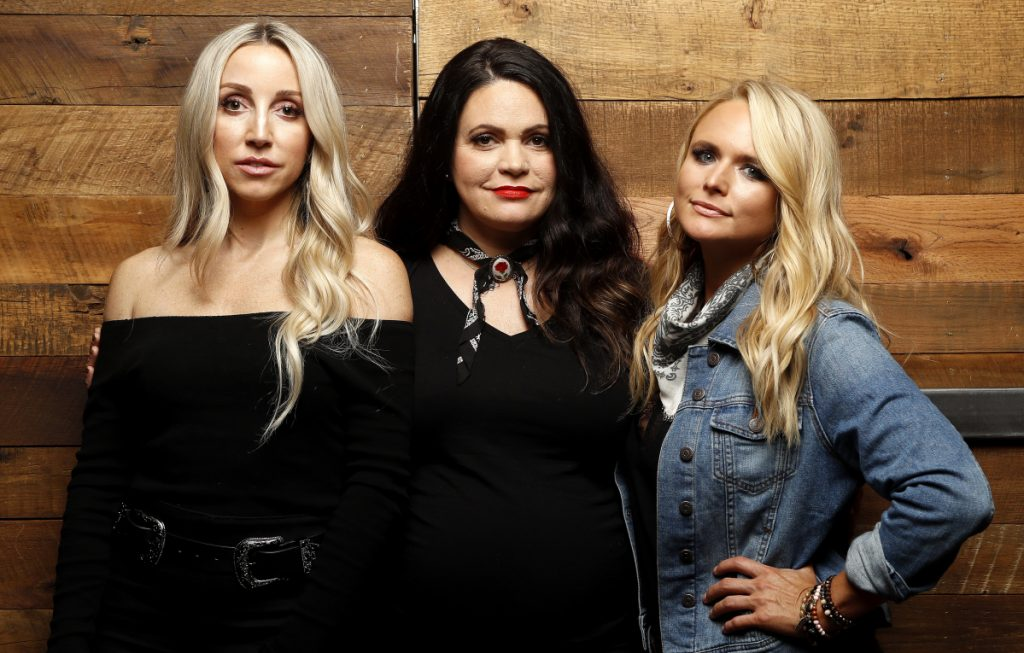 "Of the Pistol Annies' feel-good divorce song, Ashley Monroe, from left, Angaleena Presley and Miranda Lambert say, ""You're welcome."""