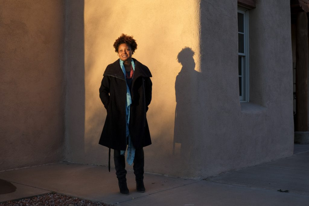 Poet Laureate Tracy K. Smith tours the Santa Fe Indian School as part of her project to bring poetry to rural and underserved communities, January 12, 2018. Photo by Shawn Miller.