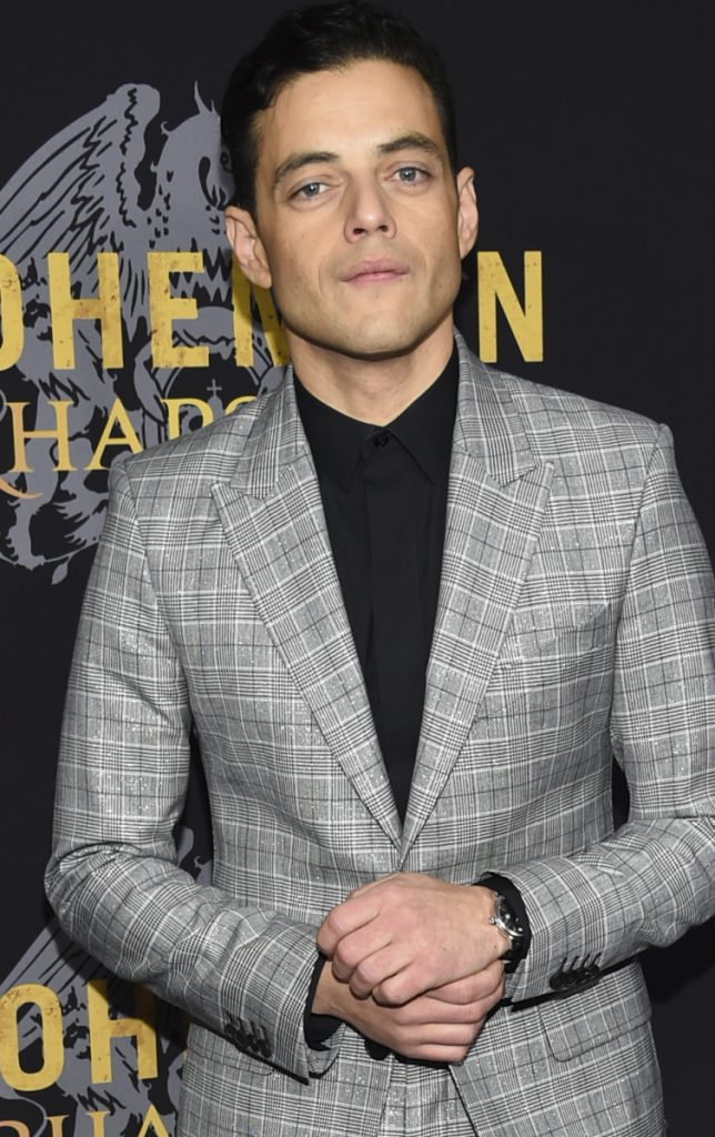 "Rami Malek arrives for the premiere of ""Bohemian Rhapsody"" in New York on Tuesday."
