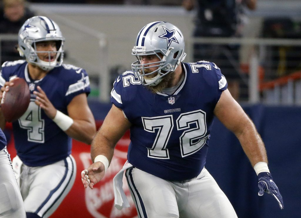 Four-time Pro Bowl center Travis Frederick has been placed on the non-football illness list by the Cowboys because of a nerve condition that has kept him from playing this season.