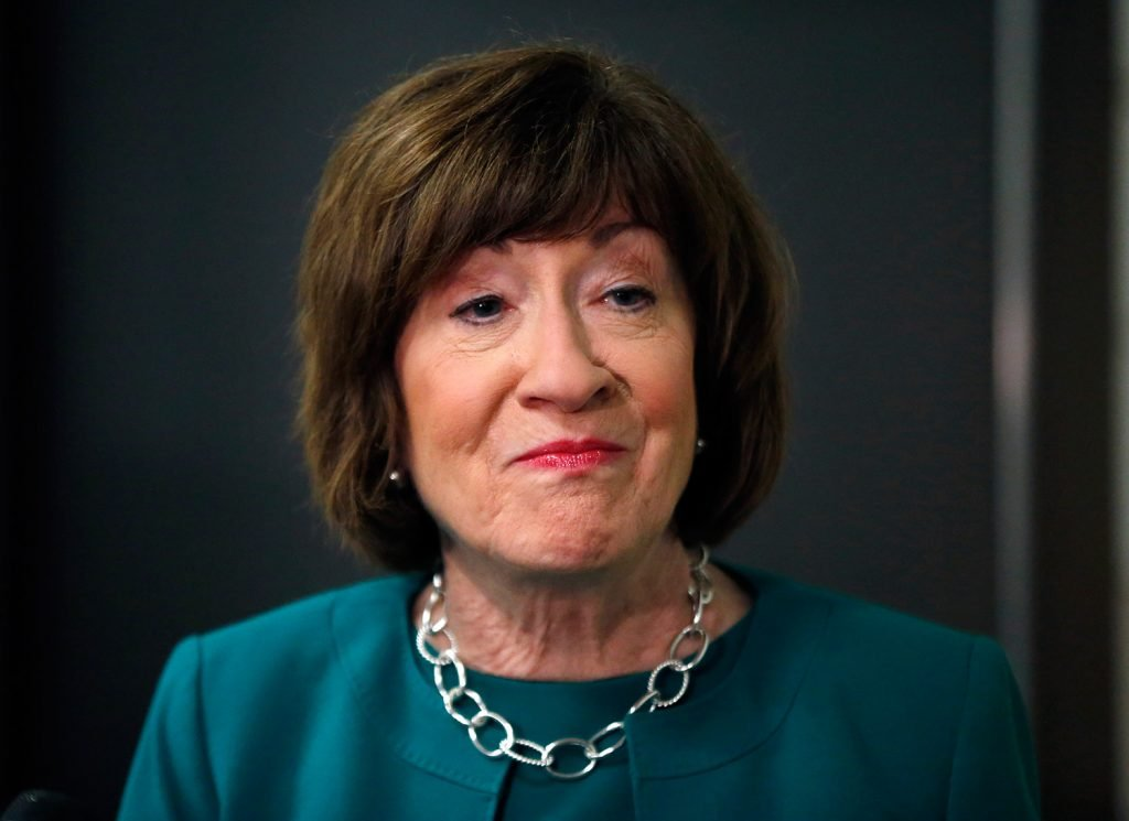 Sen. Susan Collins of Maine expressed concern Friday about comments made by newly named acting Attorney General Matthew Whitaker about the investigation by Special Counsel Robert Mueller.